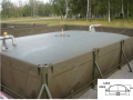 Flexible tanks for storage of hydrocarbons